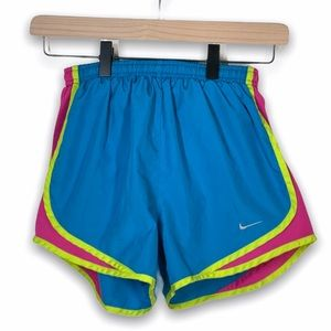 Nike teal blue, pink and yellow shorts- size XS